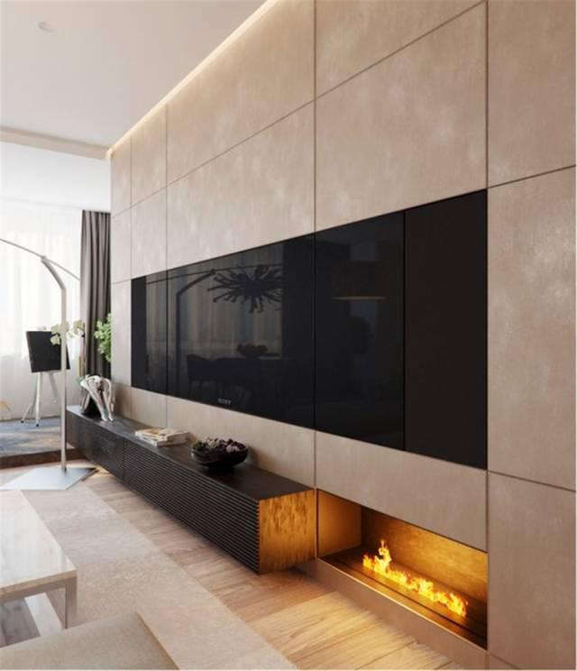 客厅矮墙隔断_客厅电视墙2020年新款