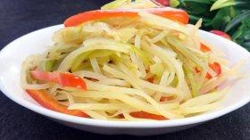 酸辣土豆丝的做法最正宗的做法