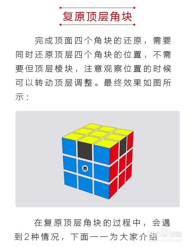 四阶魔方公式图解_三阶魔方最笨的归位方法图解 开动你的脑筋